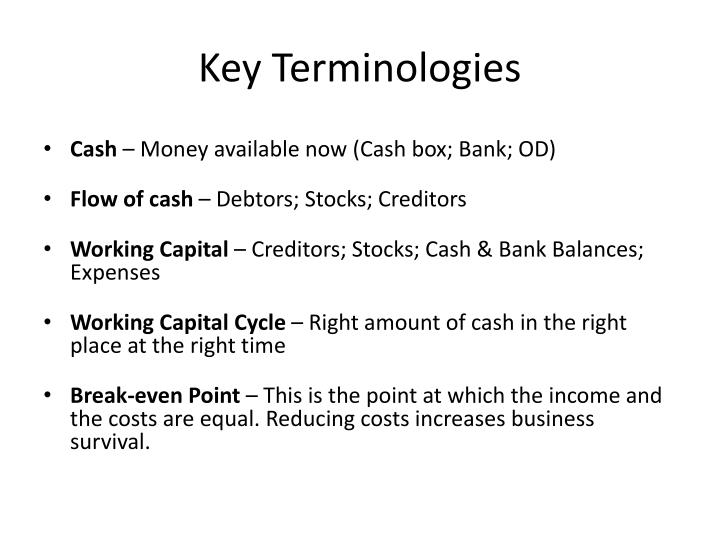 Key Terminologies