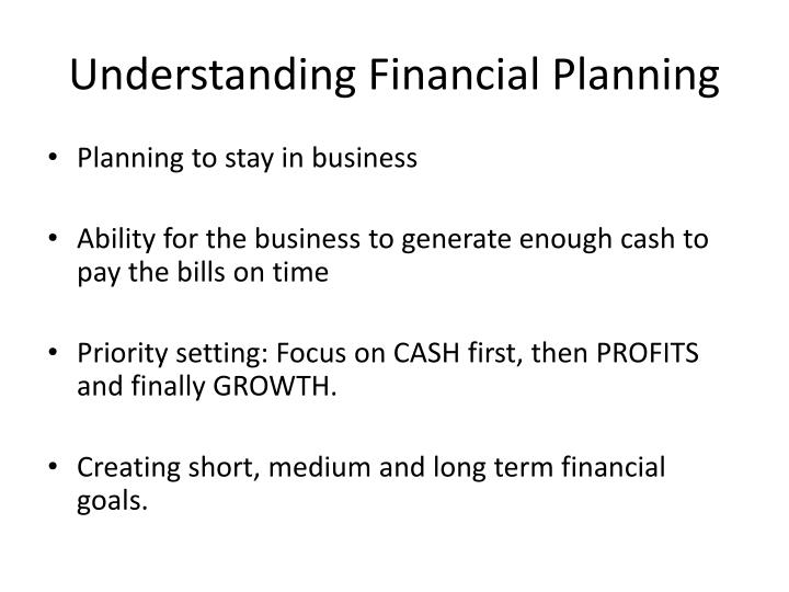 Understanding Financial Planning