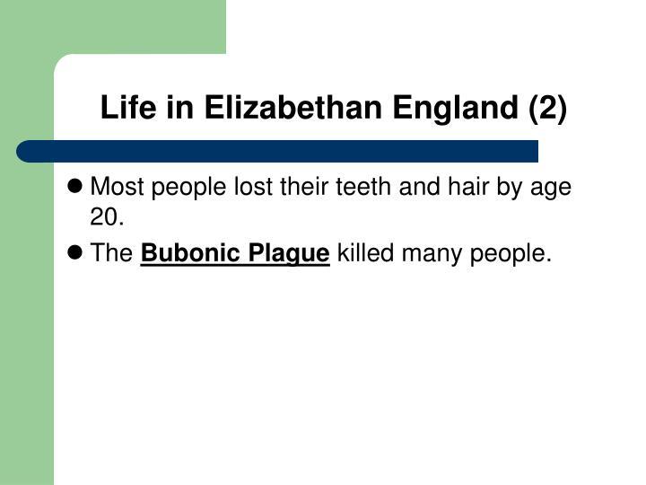 Life in Elizabethan England (2)