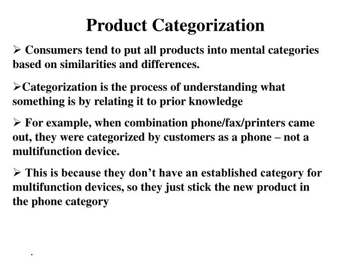 Product Categorization