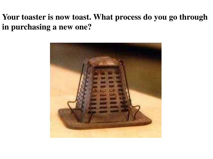 Your toaster is now toast. What process do you go through in purchasing a new one?