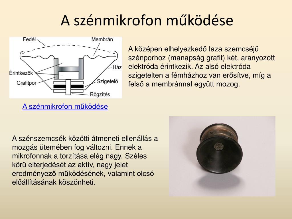 A szénmikrofon működése
