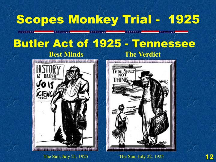 Butler Act of 1925 - Tennessee