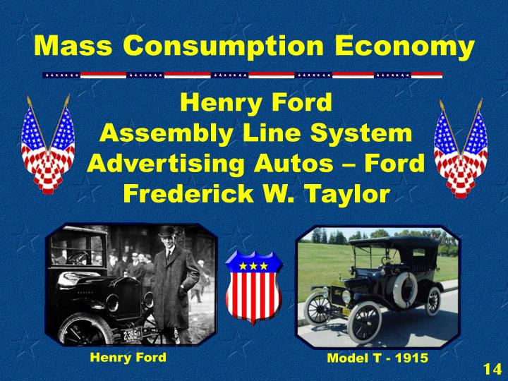 Henry Ford                     Assembly Line System Advertising Autos – Ford Frederick W. Taylor