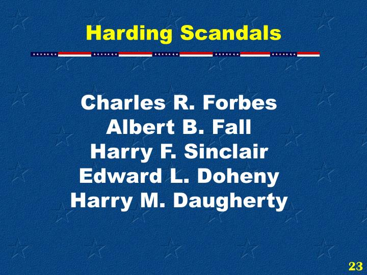 Harding Scandals