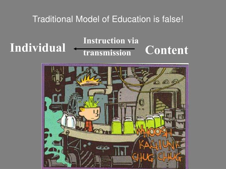 Traditional Model of Education is false!
