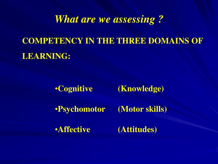 What are we assessing ?
