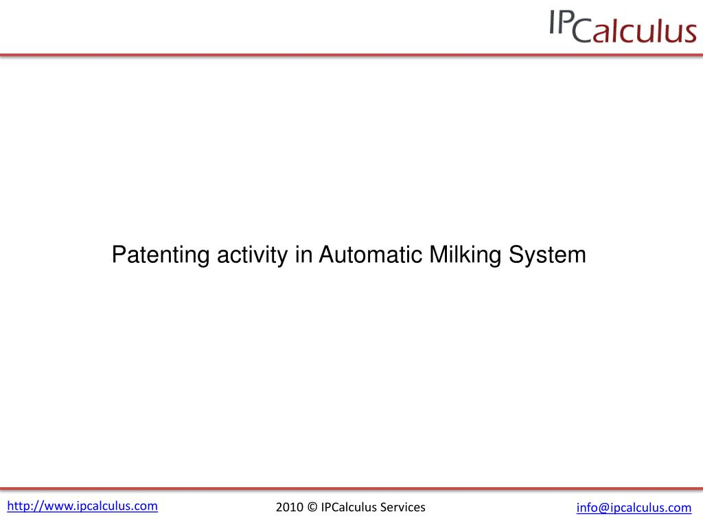 Patenting activity in Automatic Milking System