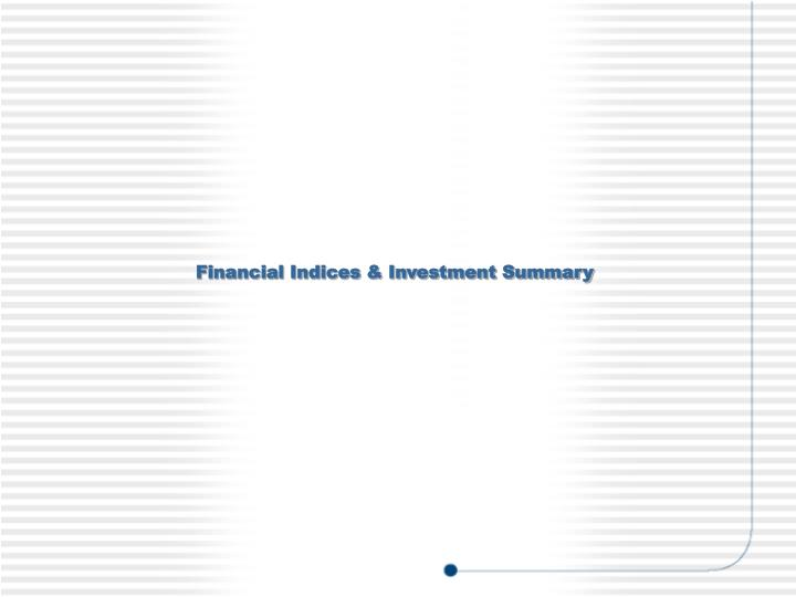 Financial Indices & Investment Summary