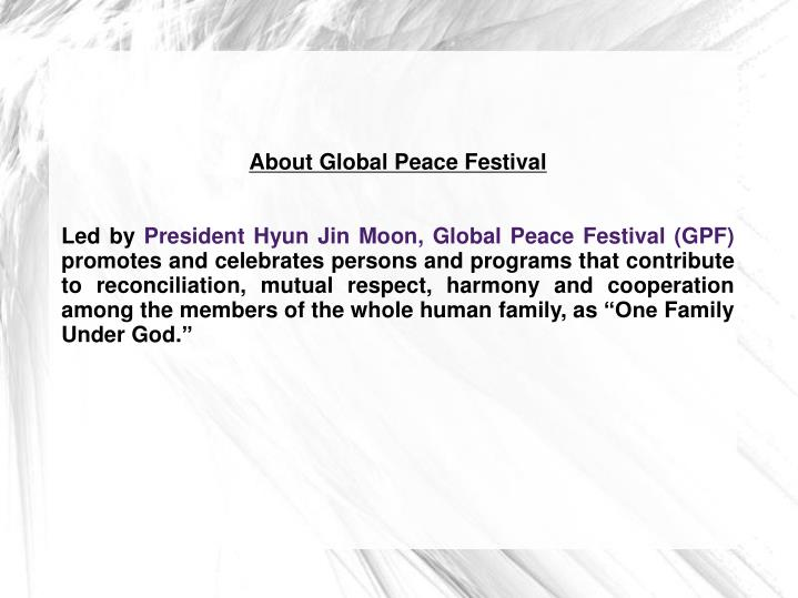 About Global Peace Festival