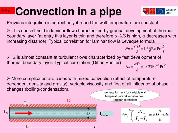 Convection in a pipe