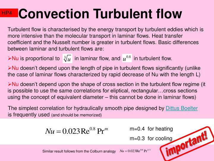 Convection Turbulent flow