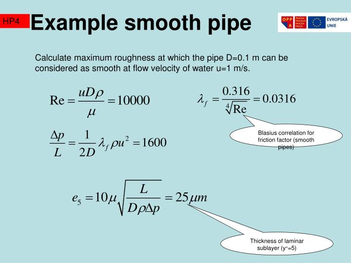 Example smooth pipe