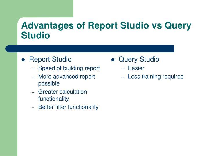 Report Studio