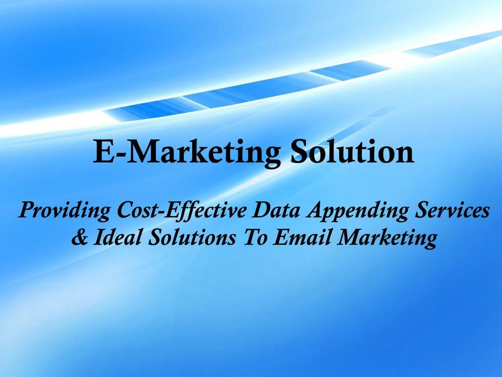 E-Marketing Solution