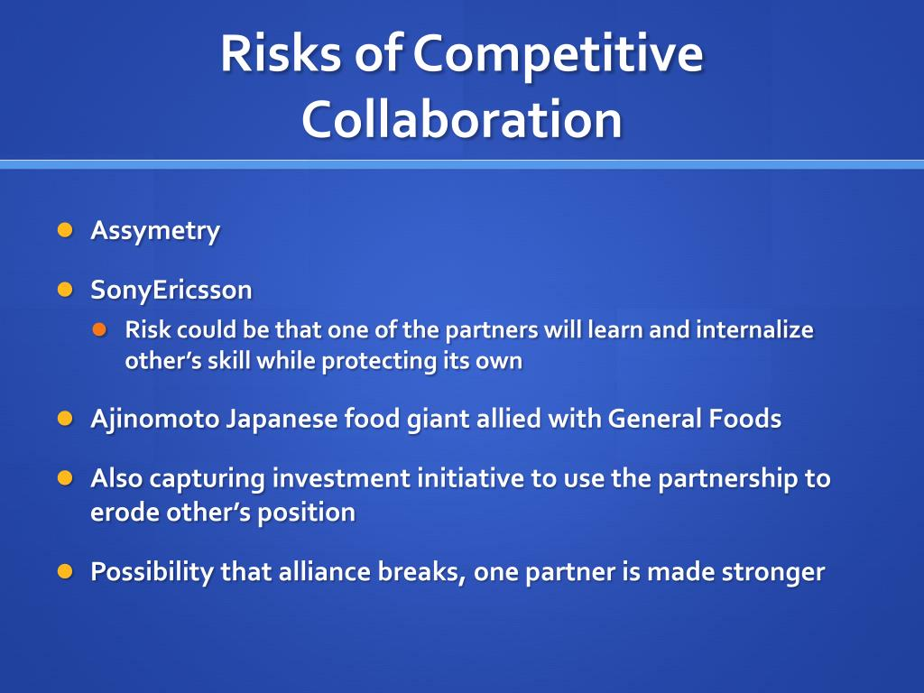 Risks of Competitive Collaboration