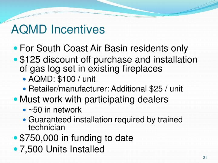 AQMD Incentives