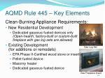 aqmd rule 445 key elements