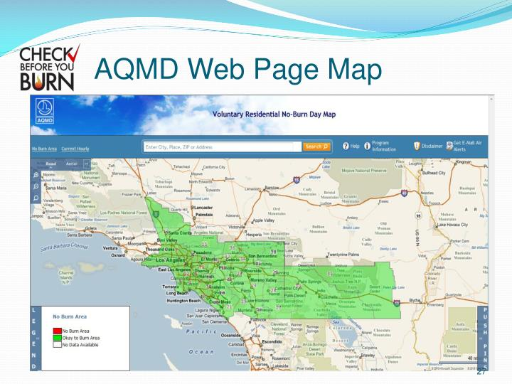 AQMD Web Page Map