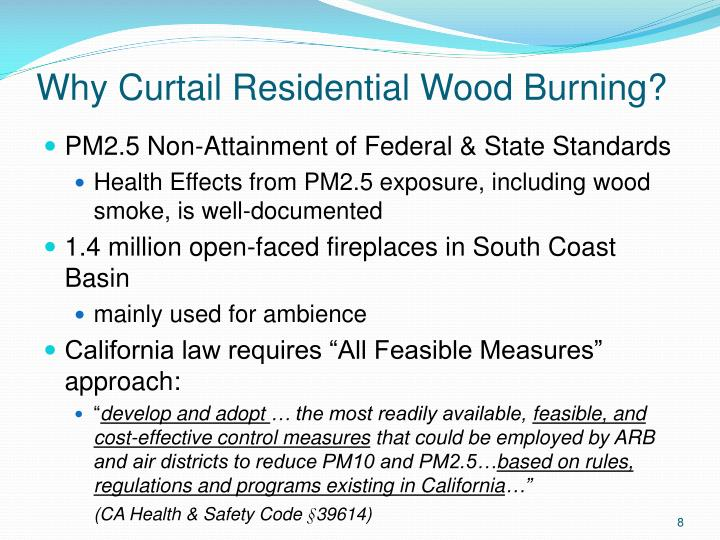 Why Curtail Residential Wood Burning?