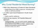 why curtail residential wood burning