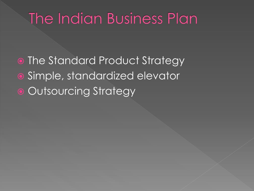 The Indian Business Plan