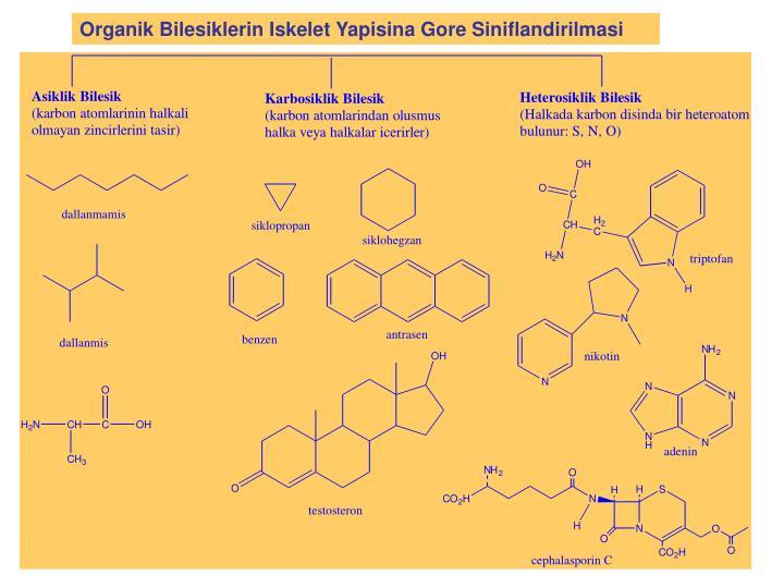 Organik Bilesiklerin Iskelet Yapisina Gore Siniflandirilmasi