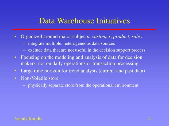 Data Warehouse Initiatives