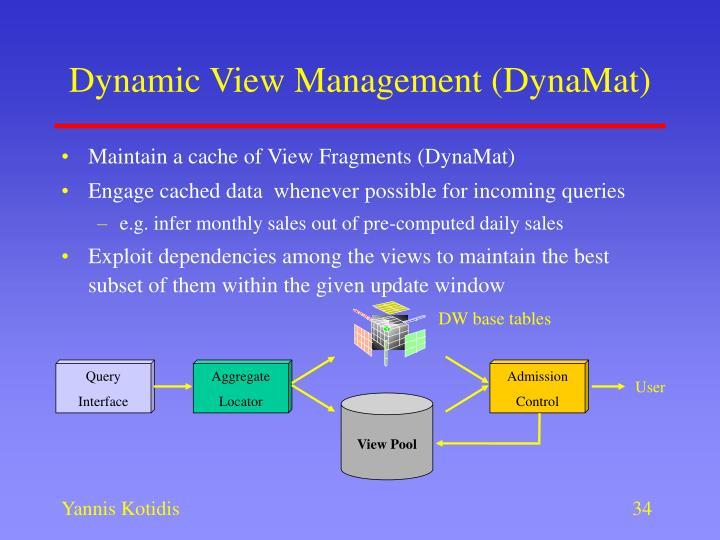 Dynamic View Management (DynaMat)