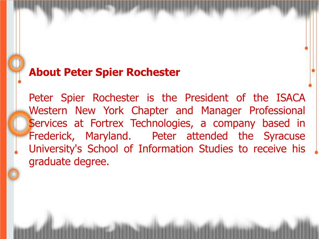About Peter Spier Rochester