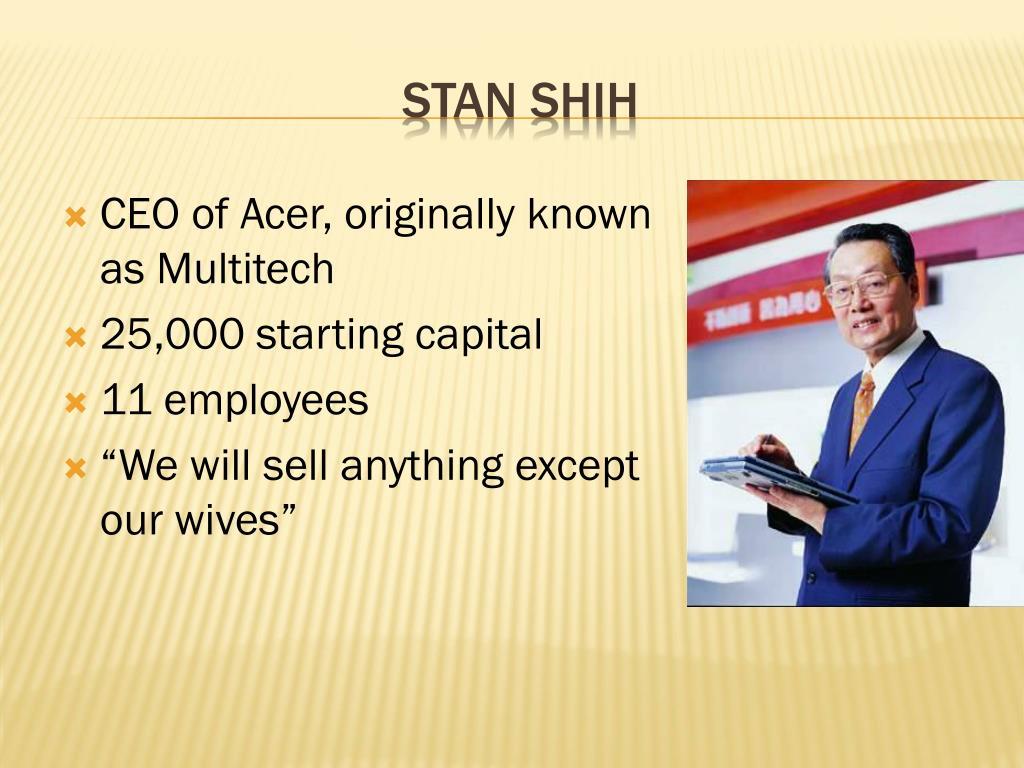 CEO of Acer, originally known as