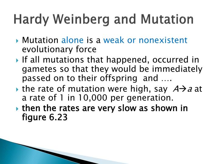 Hardy Weinberg and Mutation