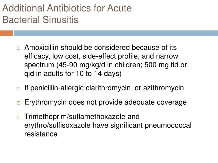 Additional Antibiotics for Acute
