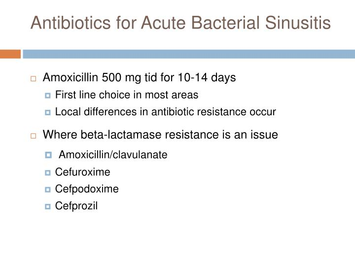 Antibiotics for Acute Bacterial Sinusitis
