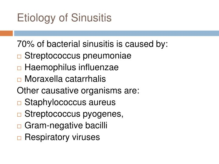 Etiology of Sinusitis