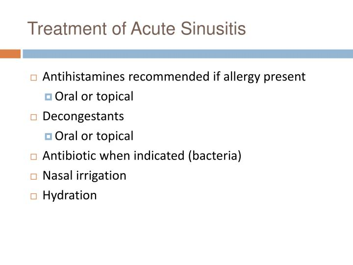 Treatment of Acute Sinusitis