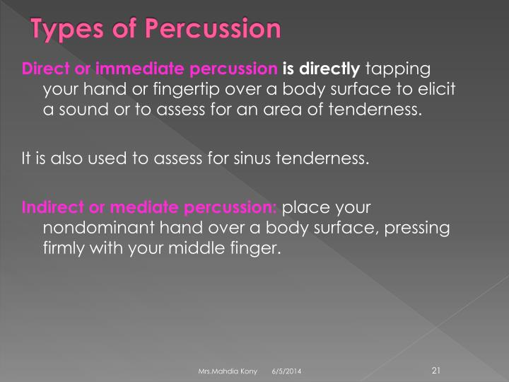 Types of Percussion