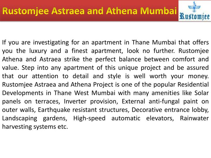 Rustomjee astraea and athena mumbai
