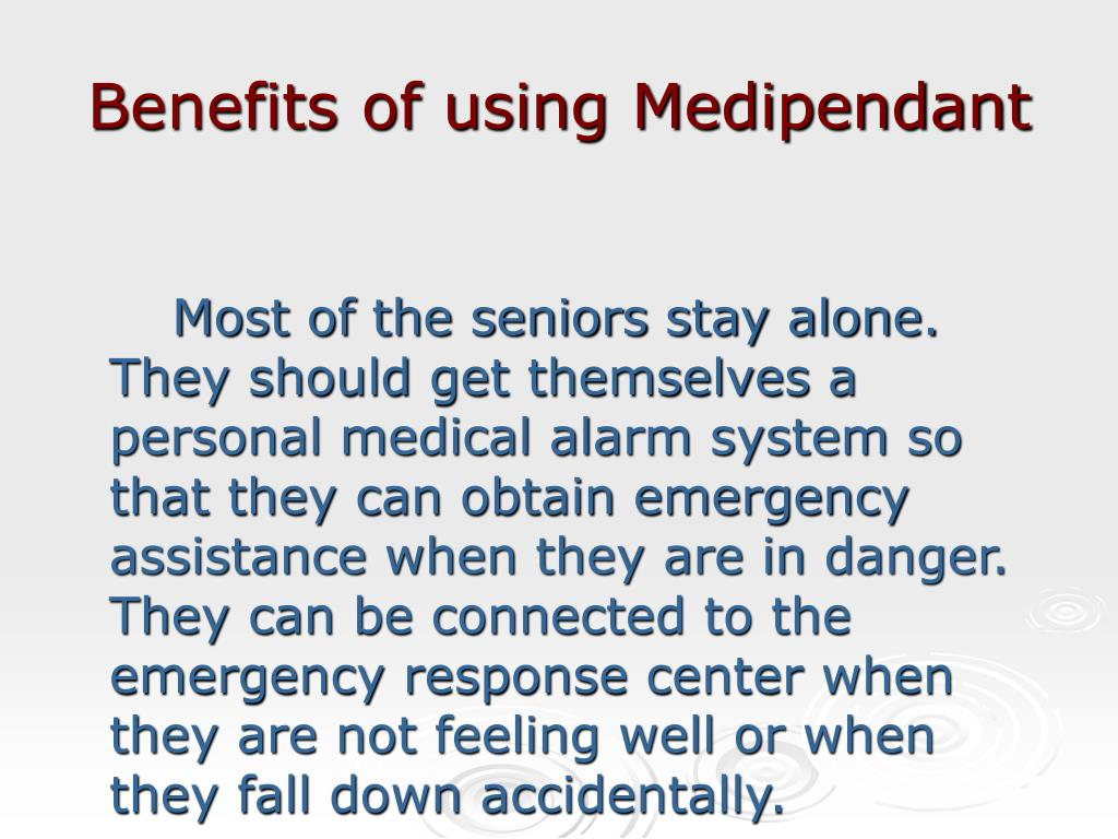 Benefits of using Medipendant