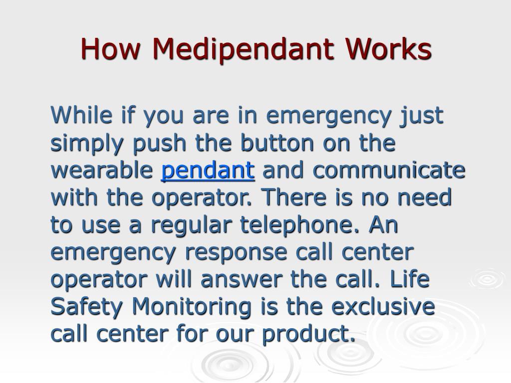 How Medipendant Works