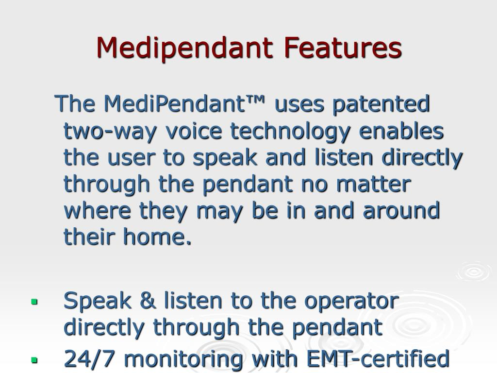 Medipendant Features