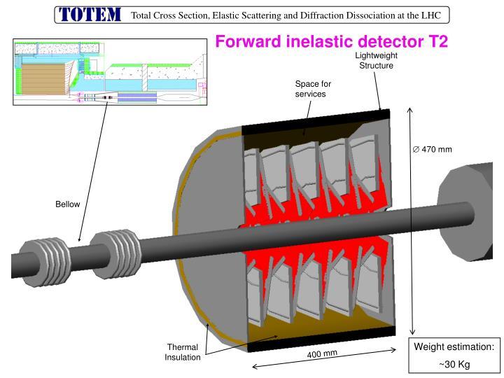 Forward inelastic detector T2