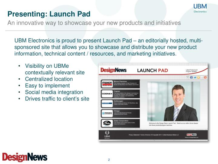 Presenting launch pad1