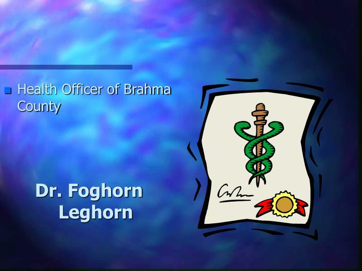 Health Officer of Brahma County