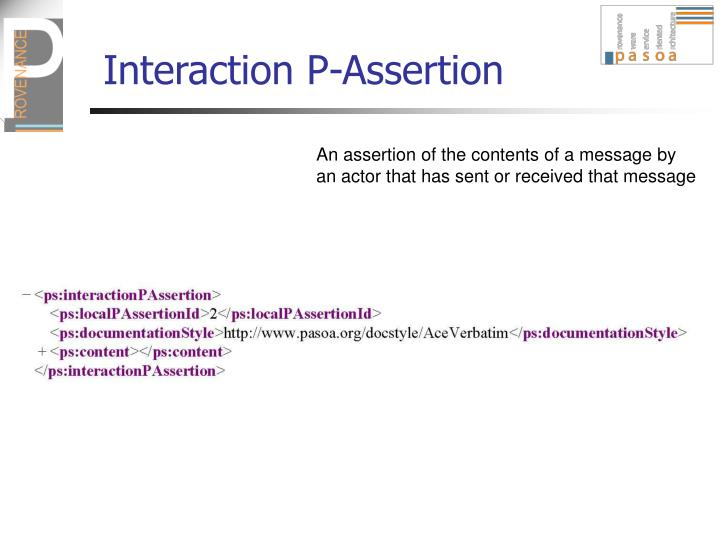 Interaction P-Assertion