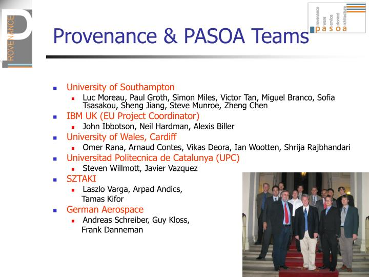 Provenance pasoa teams