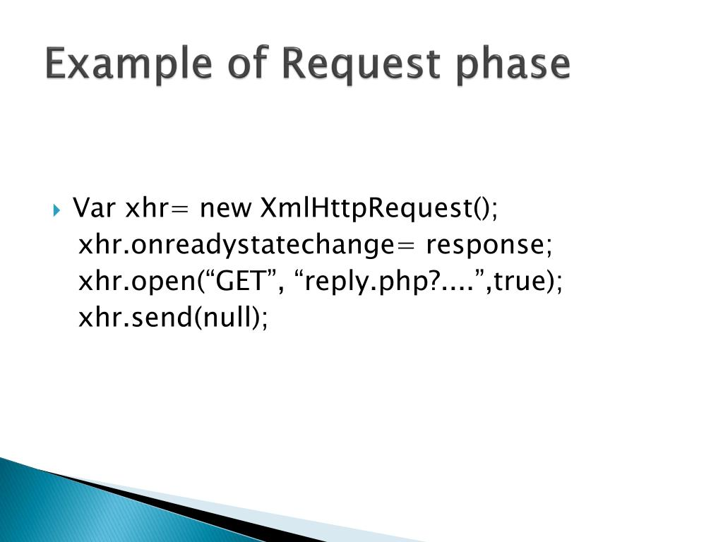 Example of Request phase