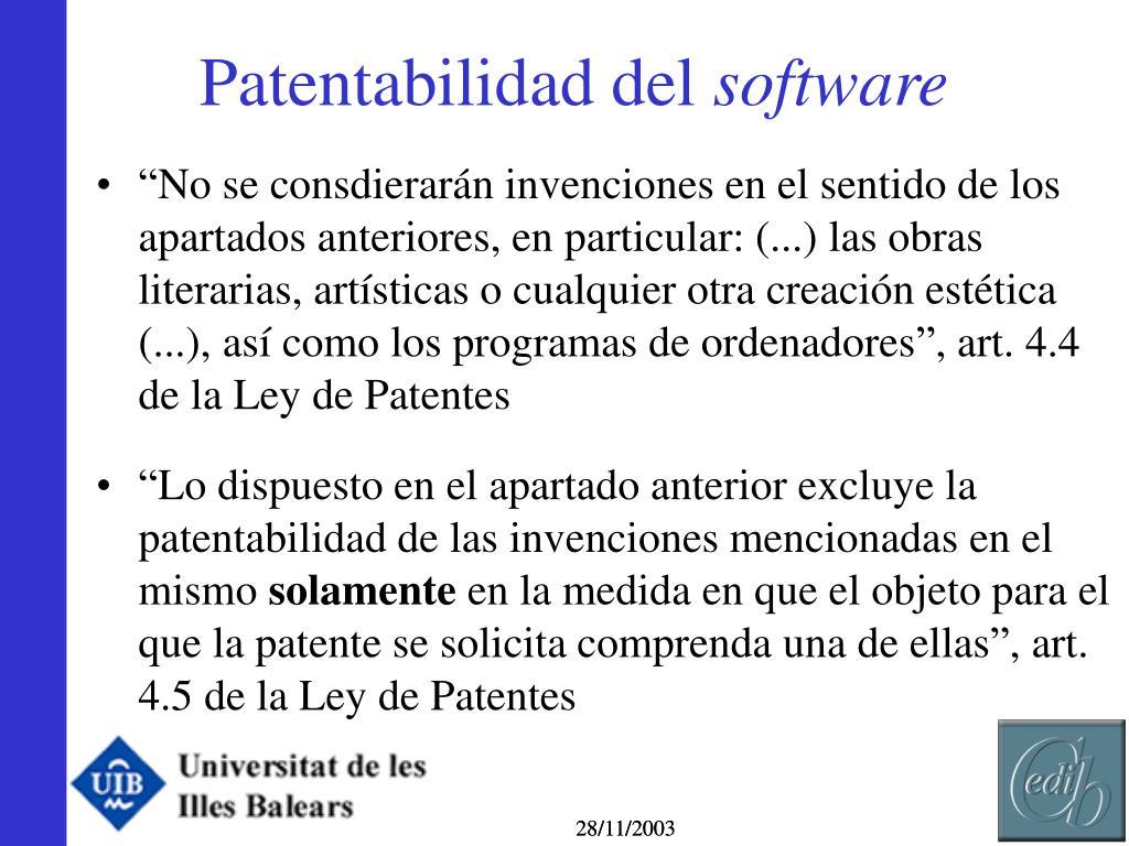 Patentabilidad del