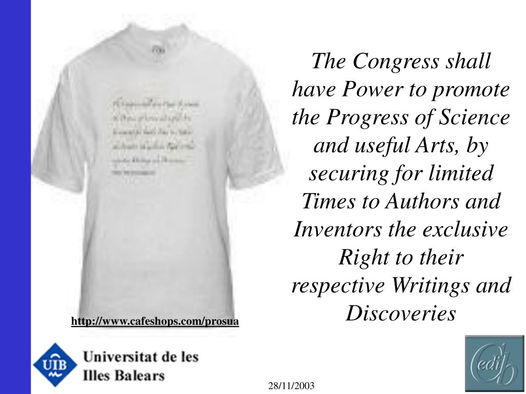 The Congress shall have Power to promote the Progress of Science and useful Arts, by securing for limited Times to Authors and Inventors the exclusive Right to their respective Writings and Discoveries