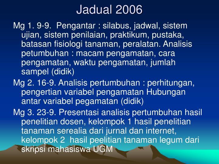 Jadual 2006